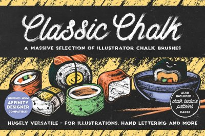 Classic Chalk - Brushes + Patterns!
