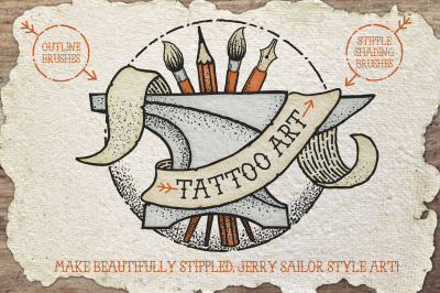 Tattoo Style Art Brushes
