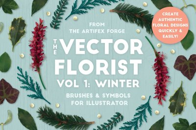 The Vector Florist - Brushes: Winter