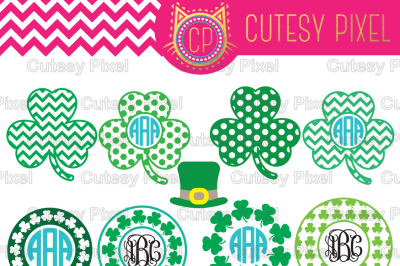 St. Patricks day svg, and dxf files