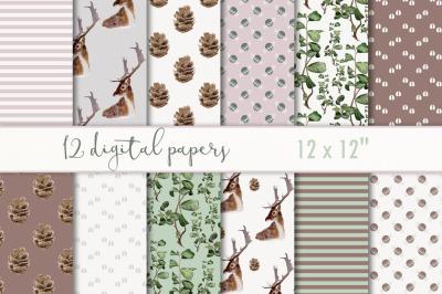 Digital paper woodland
