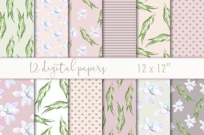 Digital paper floral