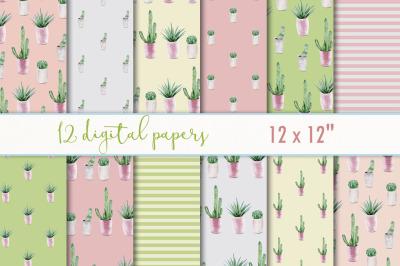 Cactus digital paper