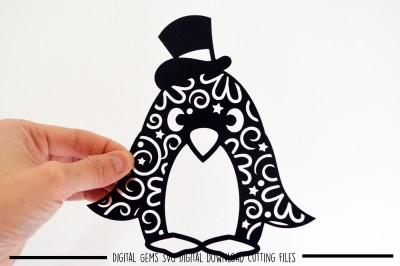 Penguin paper cut SVG / DXF / EPS Files