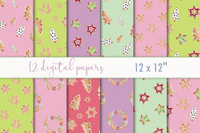 Christmas cookie paper digital set