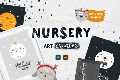Nursery art creator - Cute animals