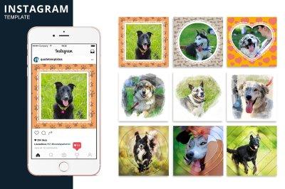 Instagram Dog Template