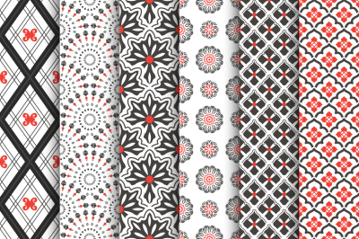 Set of elegant seamless patterns