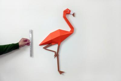 DIY Fllamingo Wall art - 3d papercraft