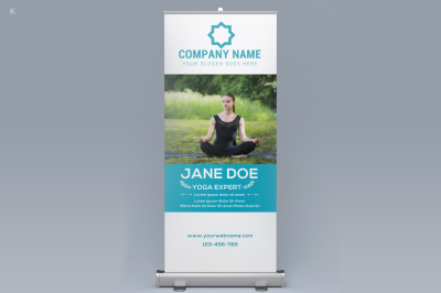 Yoga Roll Up banner
