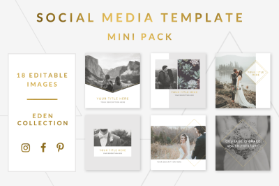 Social Media Template Mini Pack - Eden Collection