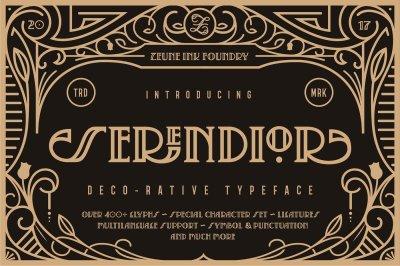 Serendior | Font & Seamless Patterns