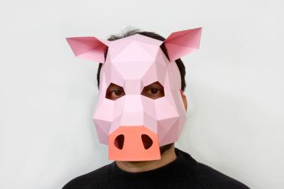 DIY Pig Mask - 3d papercraft