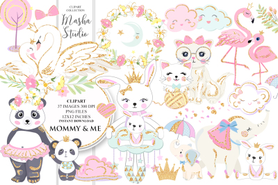 MOMMY & ME Clipart