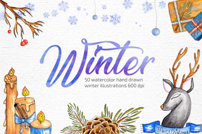 Watercolor Winter Illustrations
