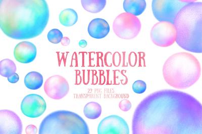 watercolor bubbles