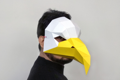 DIY Eagle mask - 3d papercraft