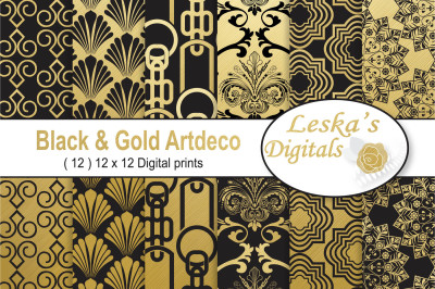 New Years Art Deco Digital Papers