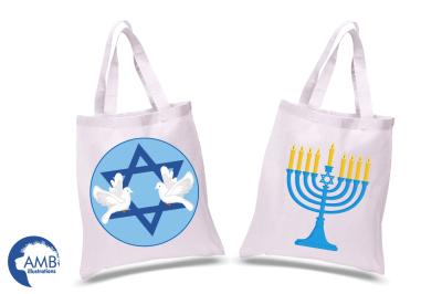 Hanukkah Clipart, Hanukkah Dreidel, Menorah Digital Clipart, Chanukah Clipart, Holiday Clipart, Graphics, Illustrations AMB-1535
