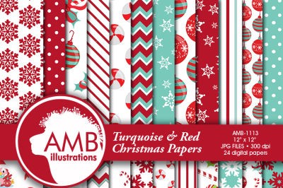 Traditional Christmas pattern, Holiday Backgrounds, Scrapbooking papers, AMB-1113