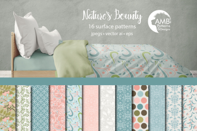 Nature's bounty pattern, Floral papers AMB-1466