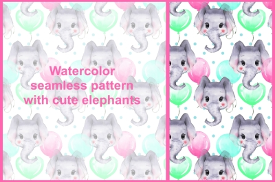 Pattern with elephants 1