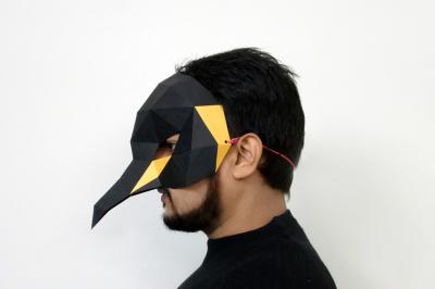 DIY Penguin Mask - 3d papercraft
