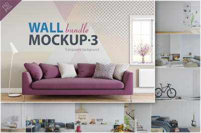 Wall Mockup - Bundle Vol. 3