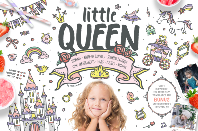 Little Queen - Adorable Princess Graphic Pack