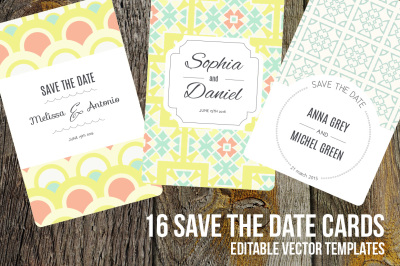 16 Save The Date editable cards