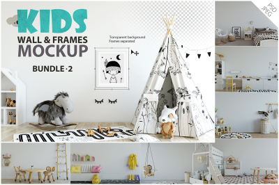 KIDS WALL & FRAMES Mockup Bundle - 2