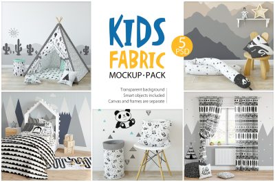 KIDS Fabric Mockup Pack - 1