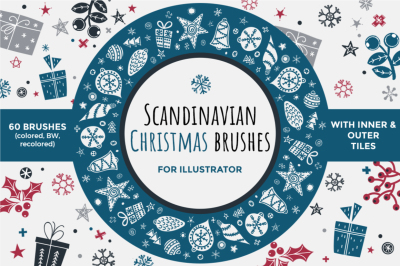 Scandinavian Christmas brushes