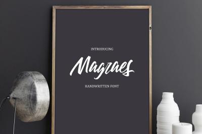 """""""Magraes"""" Handwritten Font - 30% off"""