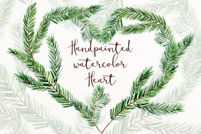 Christmas heart wreath clip art png