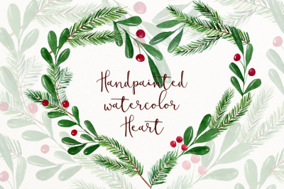 Winter watercolor clipart