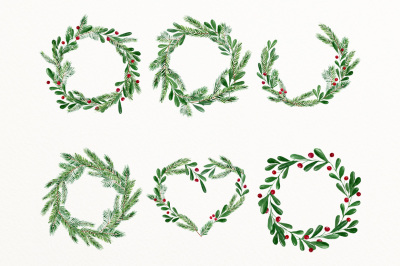 Winter wreath clipart png