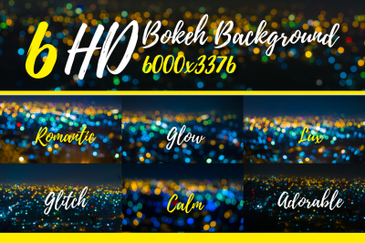 6 HD Bokeh Background