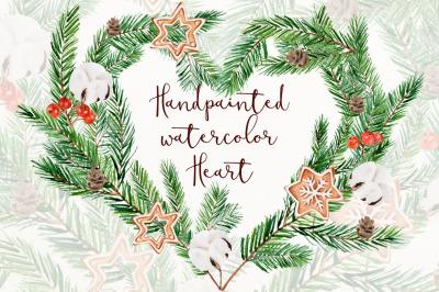Christmas heart clip art png