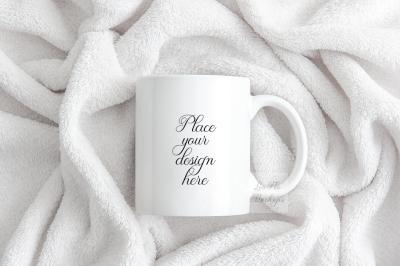 Coffee mug mockup White design mugs mock up flatlay