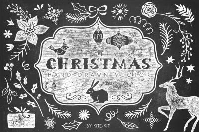Christmas hand drawn pack