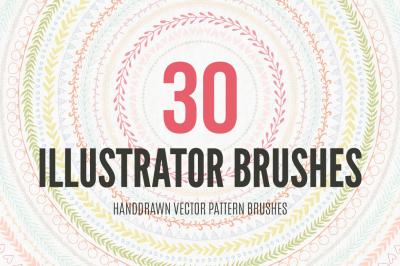 30 Handdrawn Vector Pattern Brushes