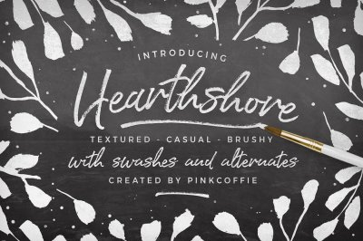 Hearthshore Brush Script + Extras!