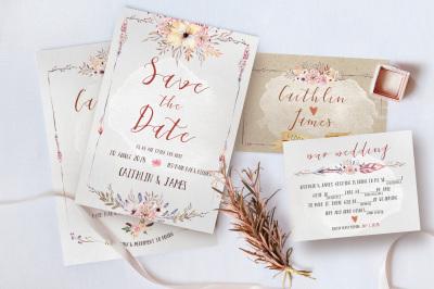Boho Flower Wedding Suite