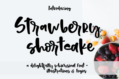 Strawberry Shortcake Font & Extras