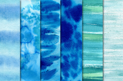 Blue watercolor texture + Overlays