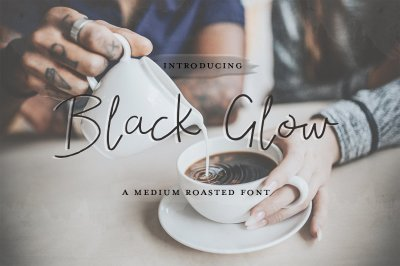 Black Glow Font