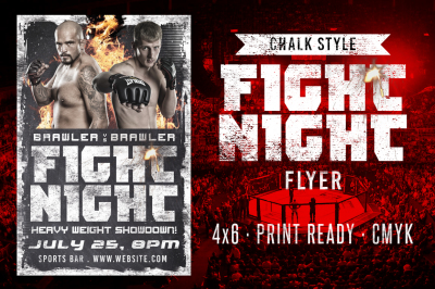 Chalk Fight Night Flyer