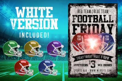 Chalk Football Friday Flyer