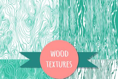 Mint wood seamless pattern